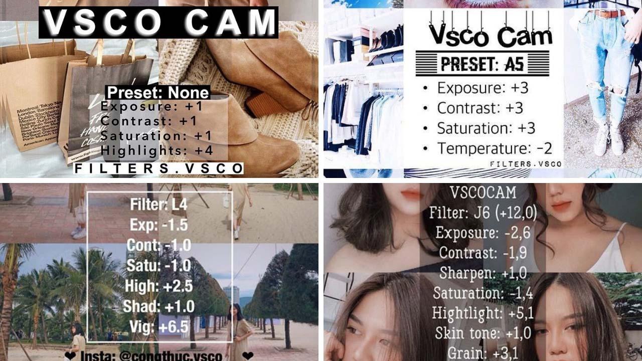 Công thức màu của VSCO Cam