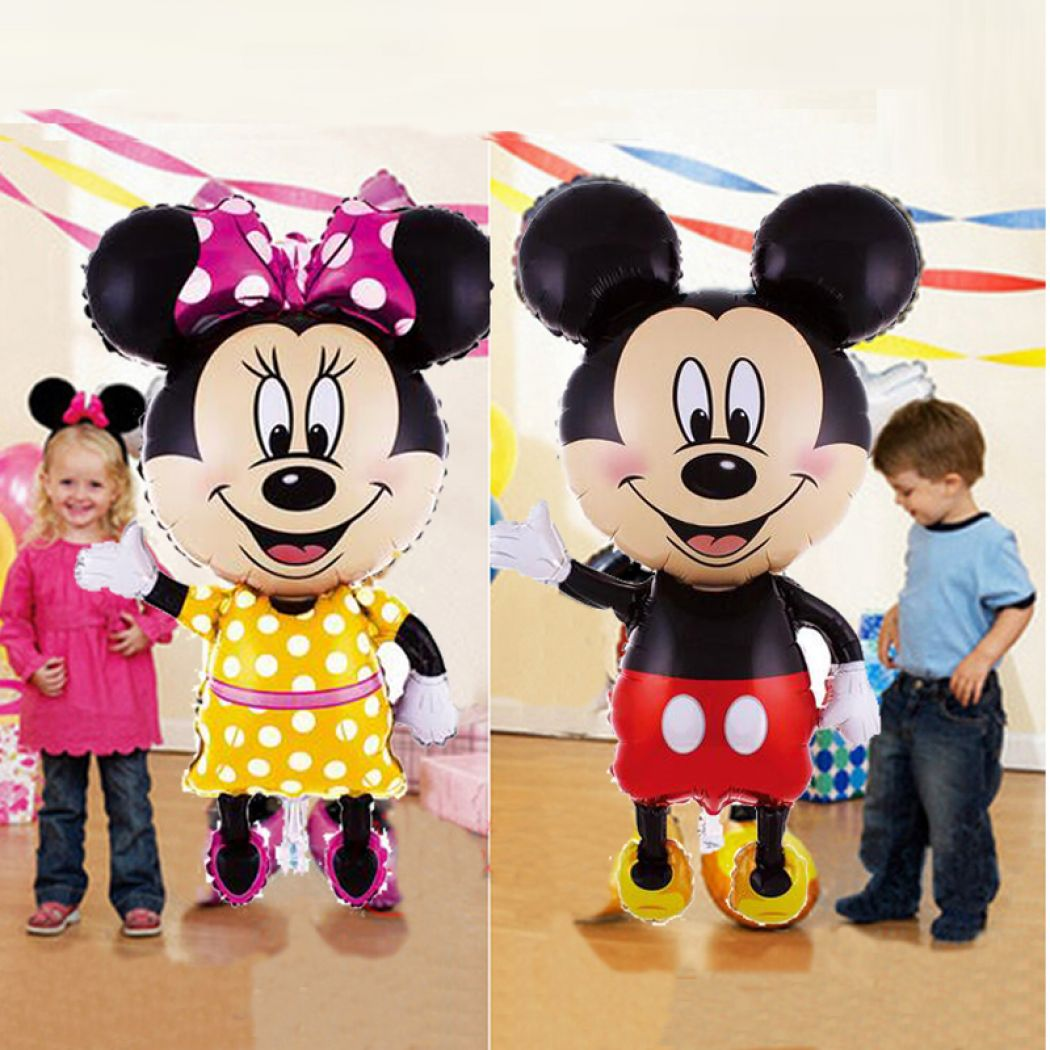 Life-Size Mickey And Minnie Mouse Foil Balloon