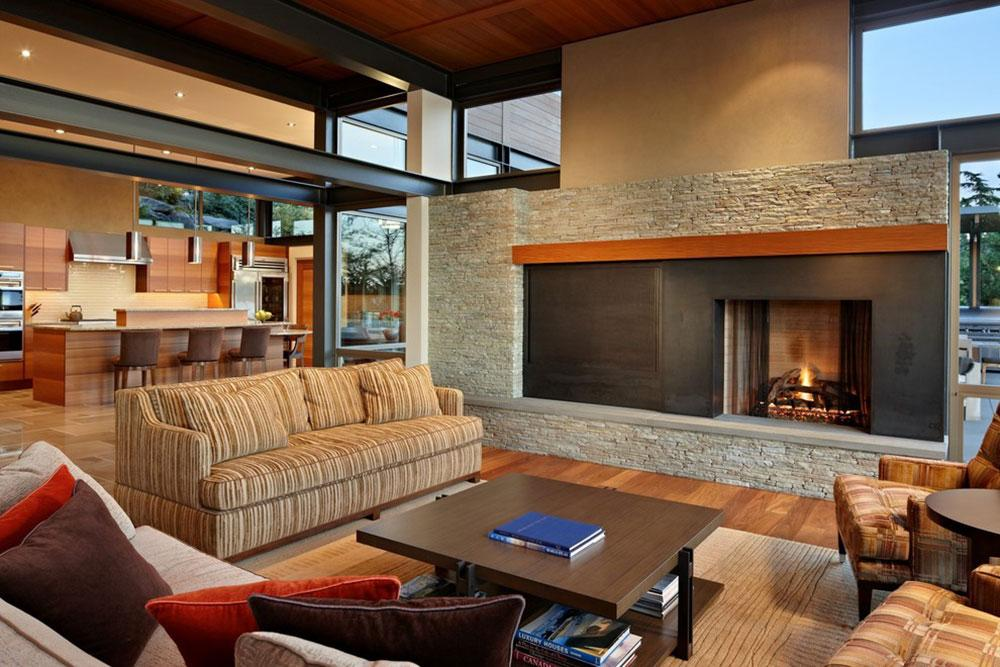 Lake-House-Two-Living-Room-by-McClellan-Architects How to arrange furniture in an awkward living room