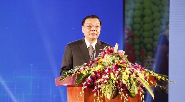 Đồng chí Chu Ngọc Anh Ủy viên Trung ương Đảng, Bộ trưởng Bộ trưởng Bộ KH&CN phát biểu khai mạc Chợ công nghệ và thiết bị Hà Nội 2016.