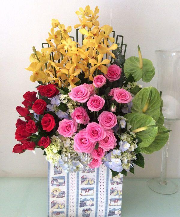 Lẵng hoa chúc mừng tại shop hoa tươi quận 10