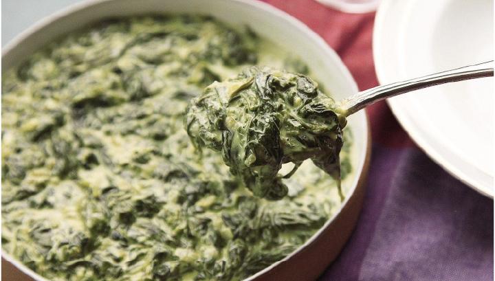 thanksgiving potluck recipe - Creamed spinach