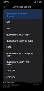 Bluetooth audio codec