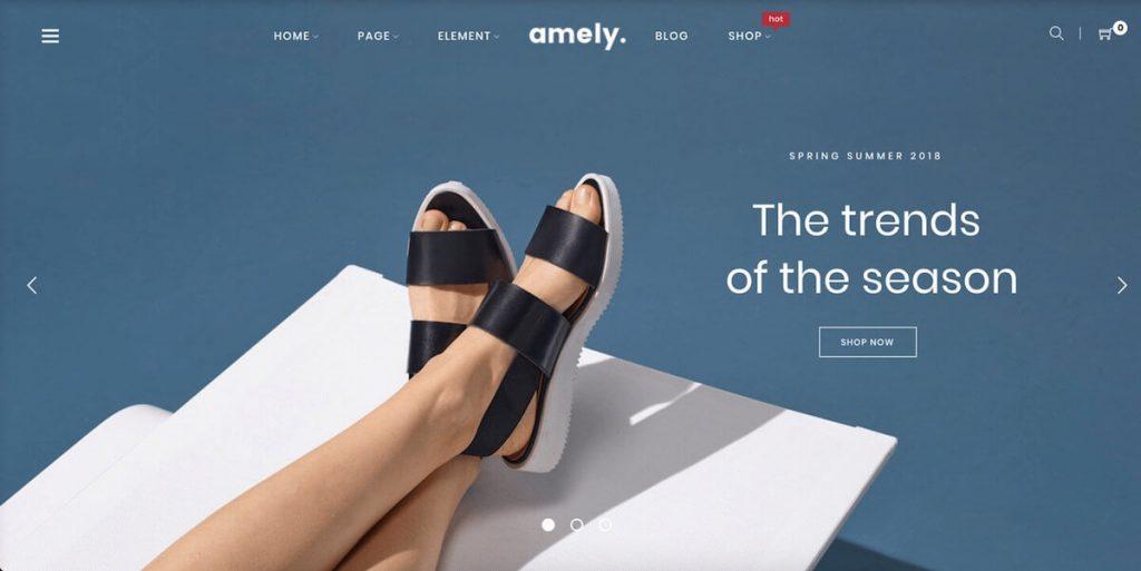 Amely - fashion ecommerce wordpress themes
