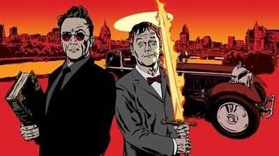 Azirafel y Crowley protagonizan Buenos presagios. Ilustración: Sean Phillips