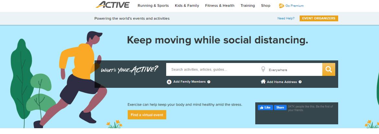 Top Fitness Website: active.com