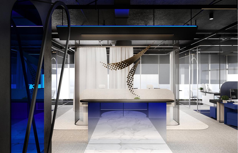 Sơn hiệu ứng Waldo-Văn phòng thiết kế phong cách hiện đại