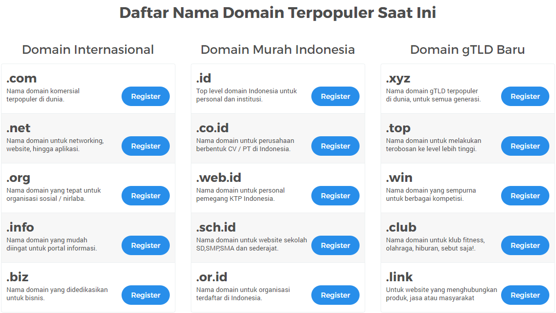 membuat website gratis domain