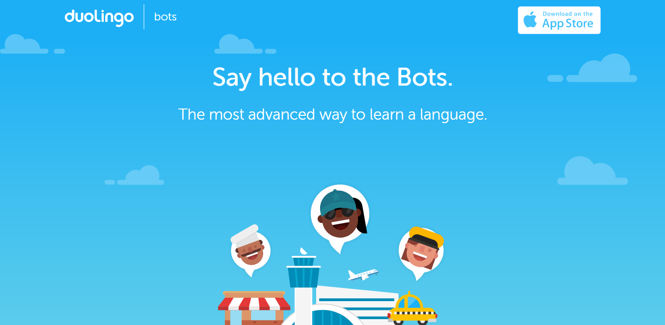 Duolingo chatbot integration answer to how to create a language learning app