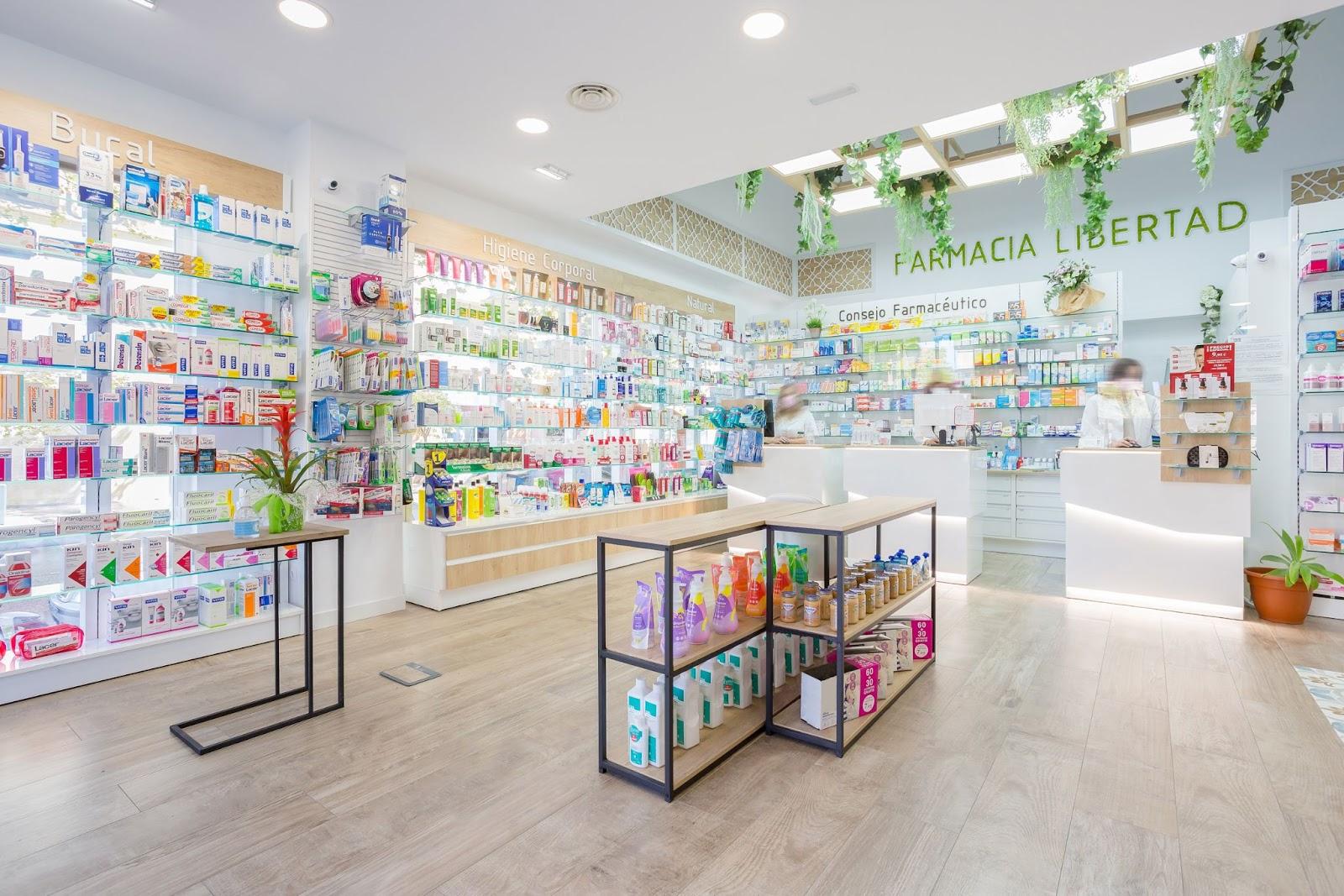 diseño interior para farmacias