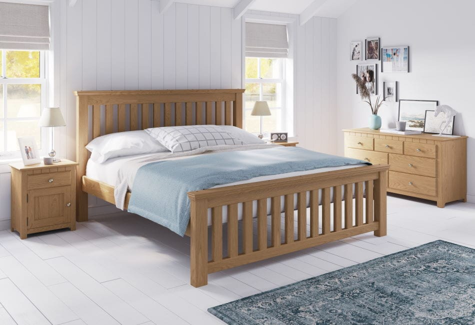 The Maine Bed in Natural Oak