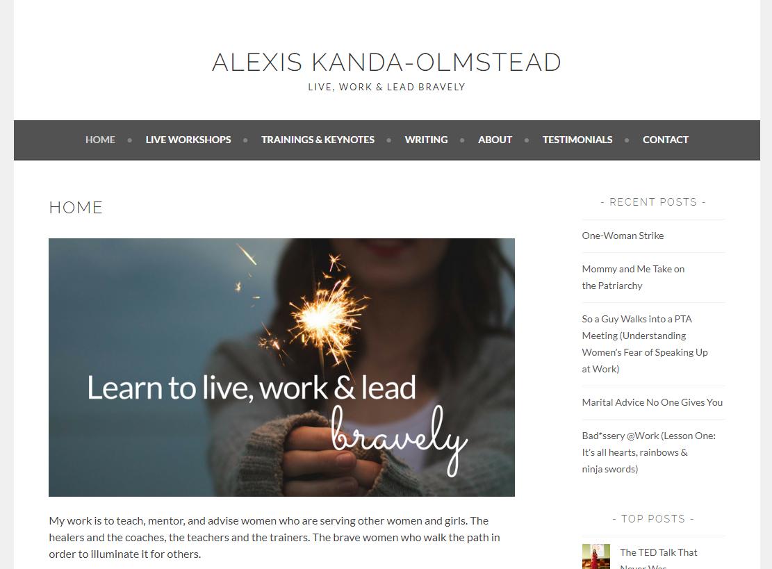 Alexis Kanda-Olmstead homepage