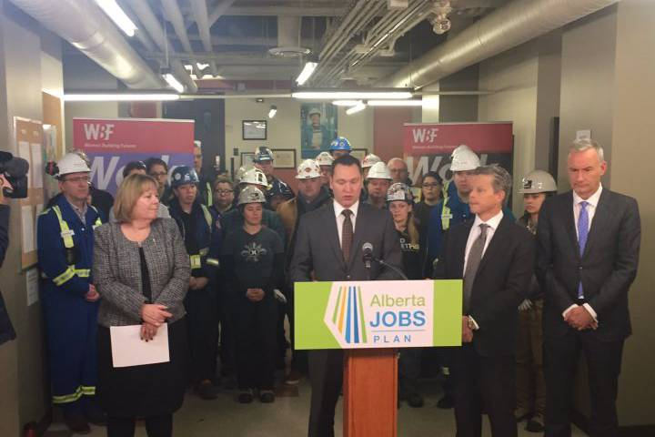 The Alberta government is pledging half a billion dollars in royalty credits to two petrochemical projects planned for an industrial area north of Edmonton.