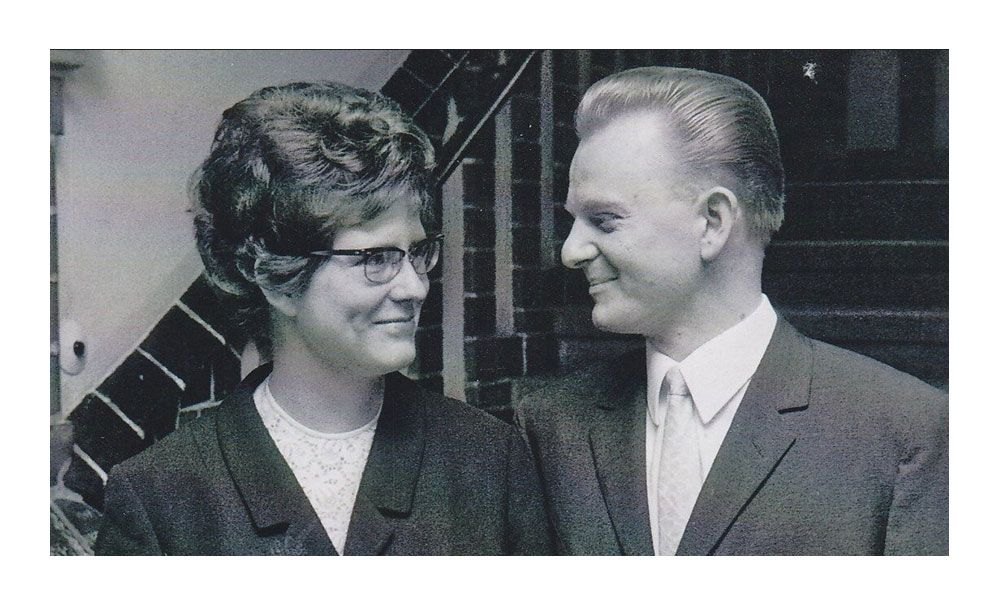 Вольф Дитер и Рената в день своей свадьбы, 1966 год