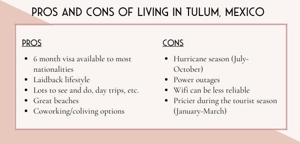 Tulum digital nomad cost of living in Tulum Mexico