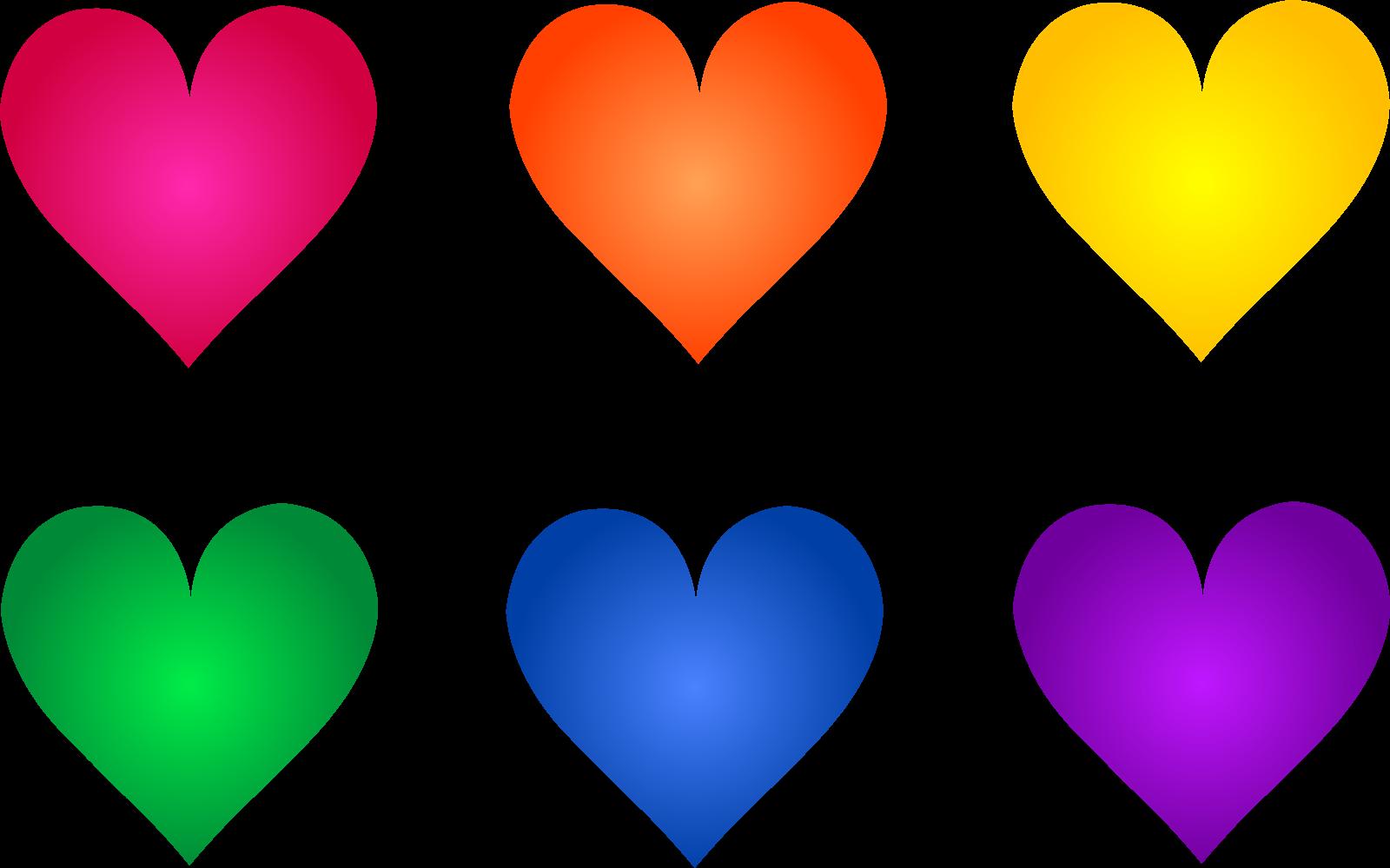 Colorful Valentine Clip Art