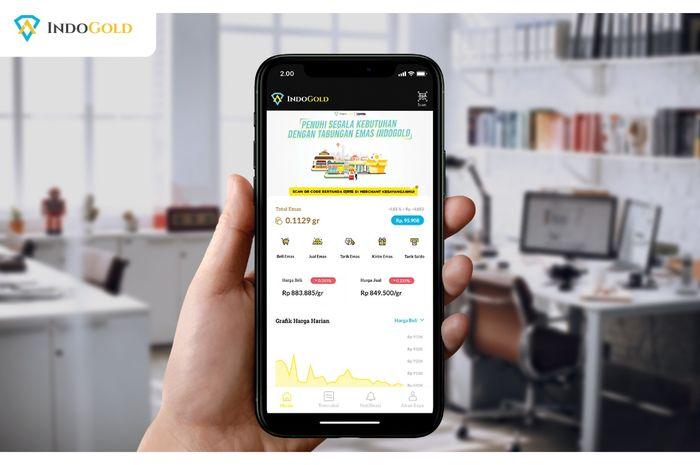 Aplikasi untuk menabung emas Indogold