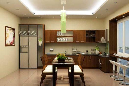 Thiết kế nội thất hiện đại trong phòng bếp