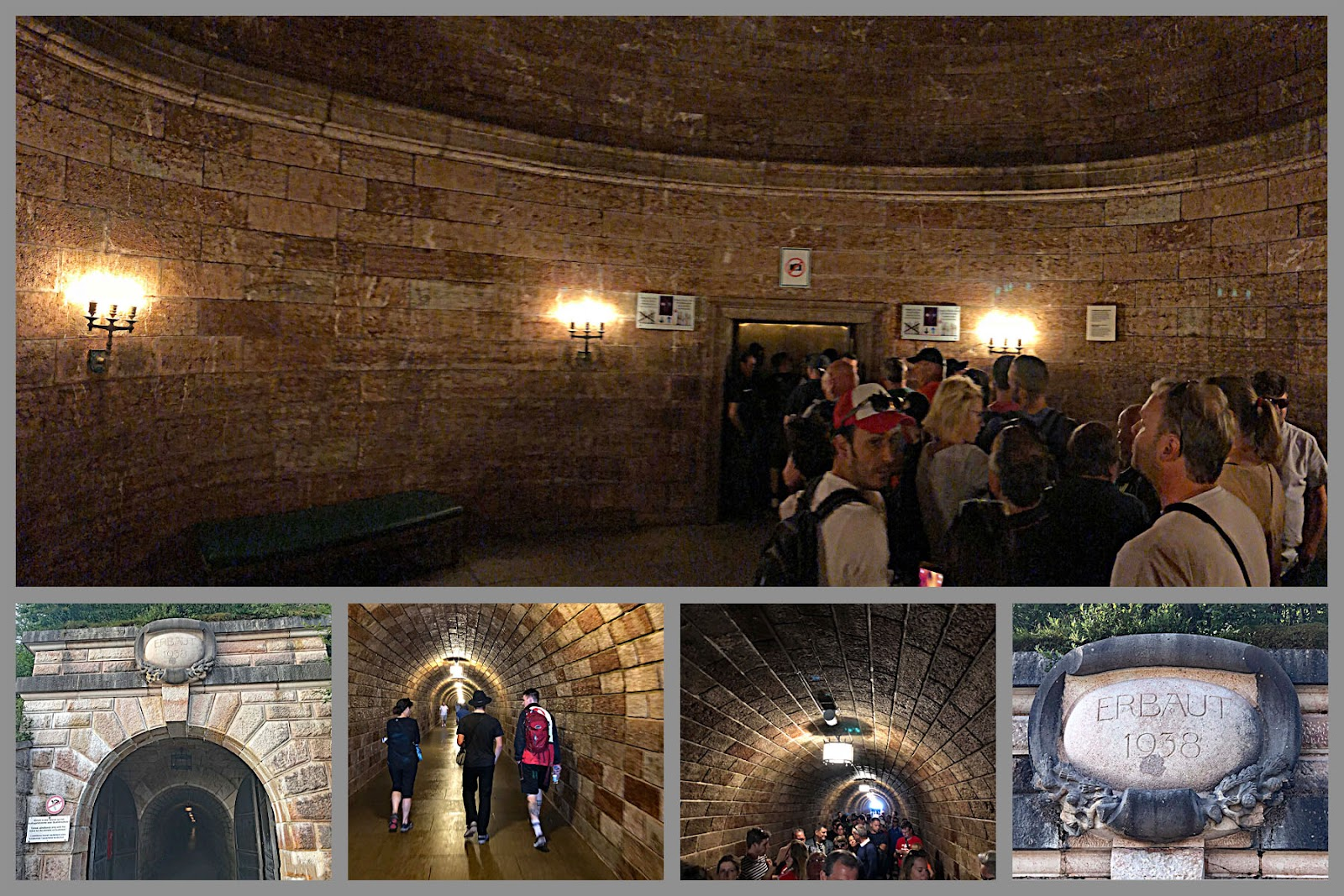 Bicycle ride to Kehlsteinhaus - Eagles Nest - tunnel to elevator