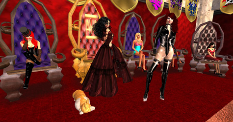 Queen Talin and Mistress Gemma at AYA's Throne Rom