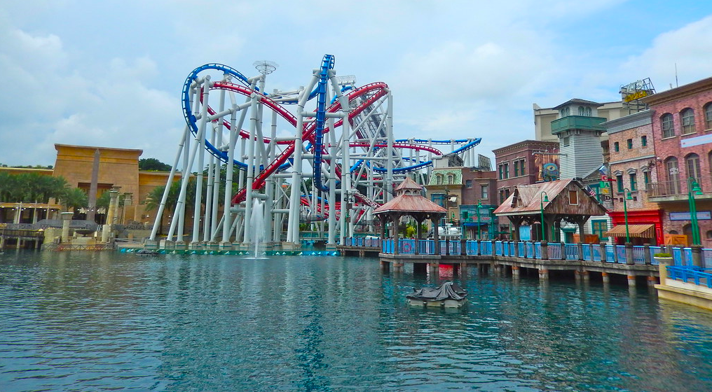 Roller Coaster at the Universal Studios