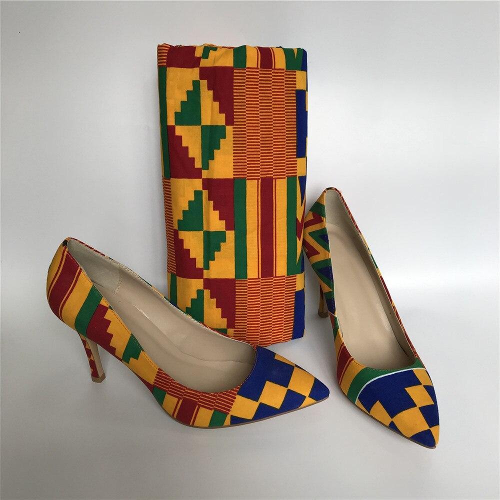 Dernières chaussures en tissu de cire Kente avec des femmes sac ensemble,  femmes pompes souples avec des pochettes assorties ensembles 36 43 vente  chaude A95 16 | AliExpress