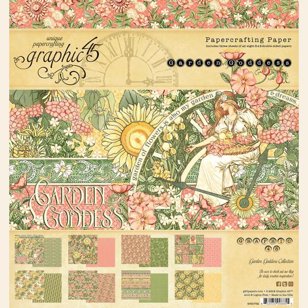 Garden Goddess 8x8 Paper pad
