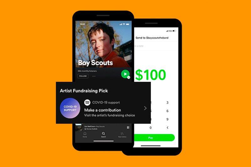 Artist Fundraising Pick : La funcionalidad de Spotify para recaudar fondos