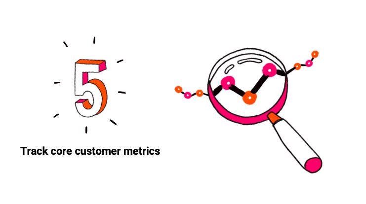 Track core customer metrics