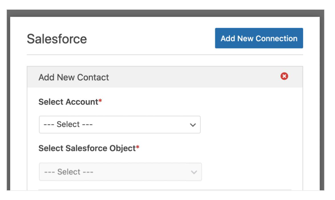 Connect Salesforce WPForms