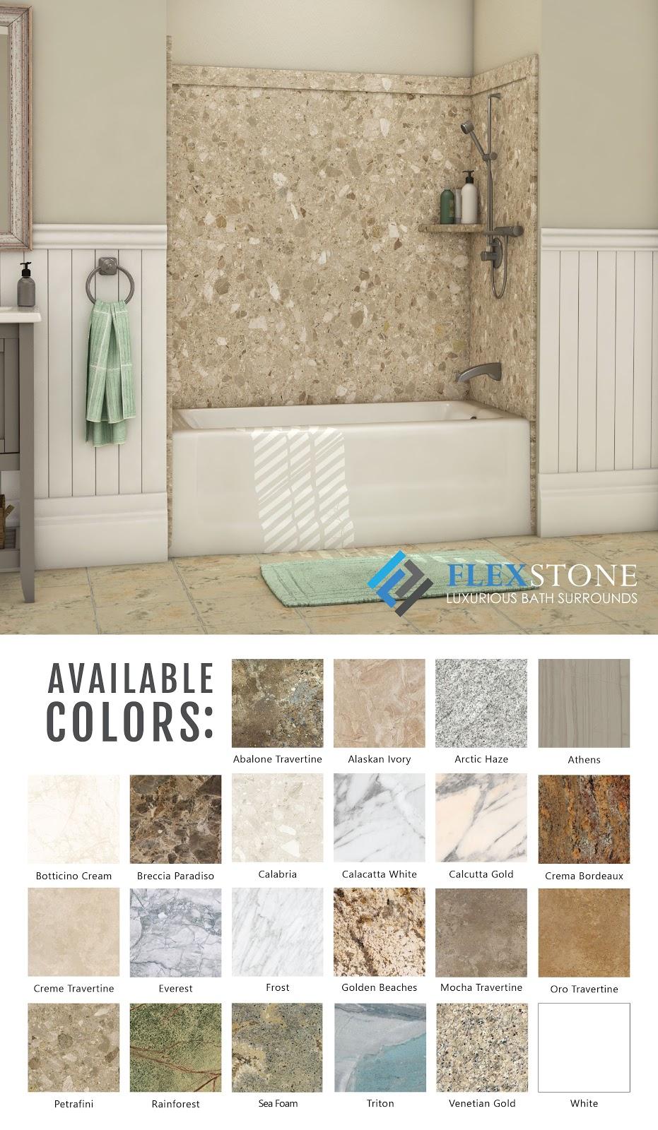 """diy shower surrounds  flexstone shower surround designs""""a"""