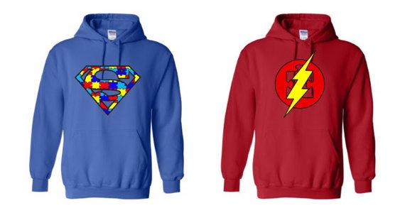 Autism Superhero Youth Hoodies