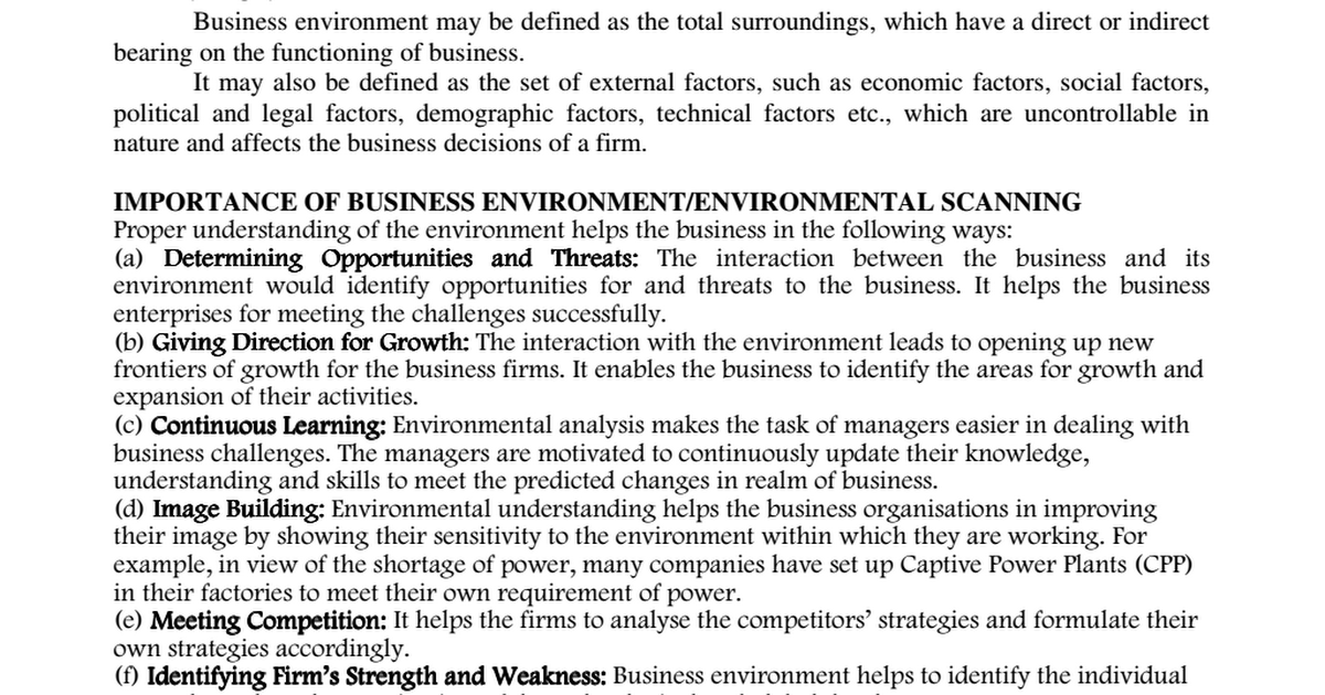 challenges in the business environment essay Based on the challenging business environment, many companies would like to use computerized system, as it has this essay is mainly about the critical successful factors addressed by somers & nelson (2001) which should be emphasized during the process of the adoption of computerized system.
