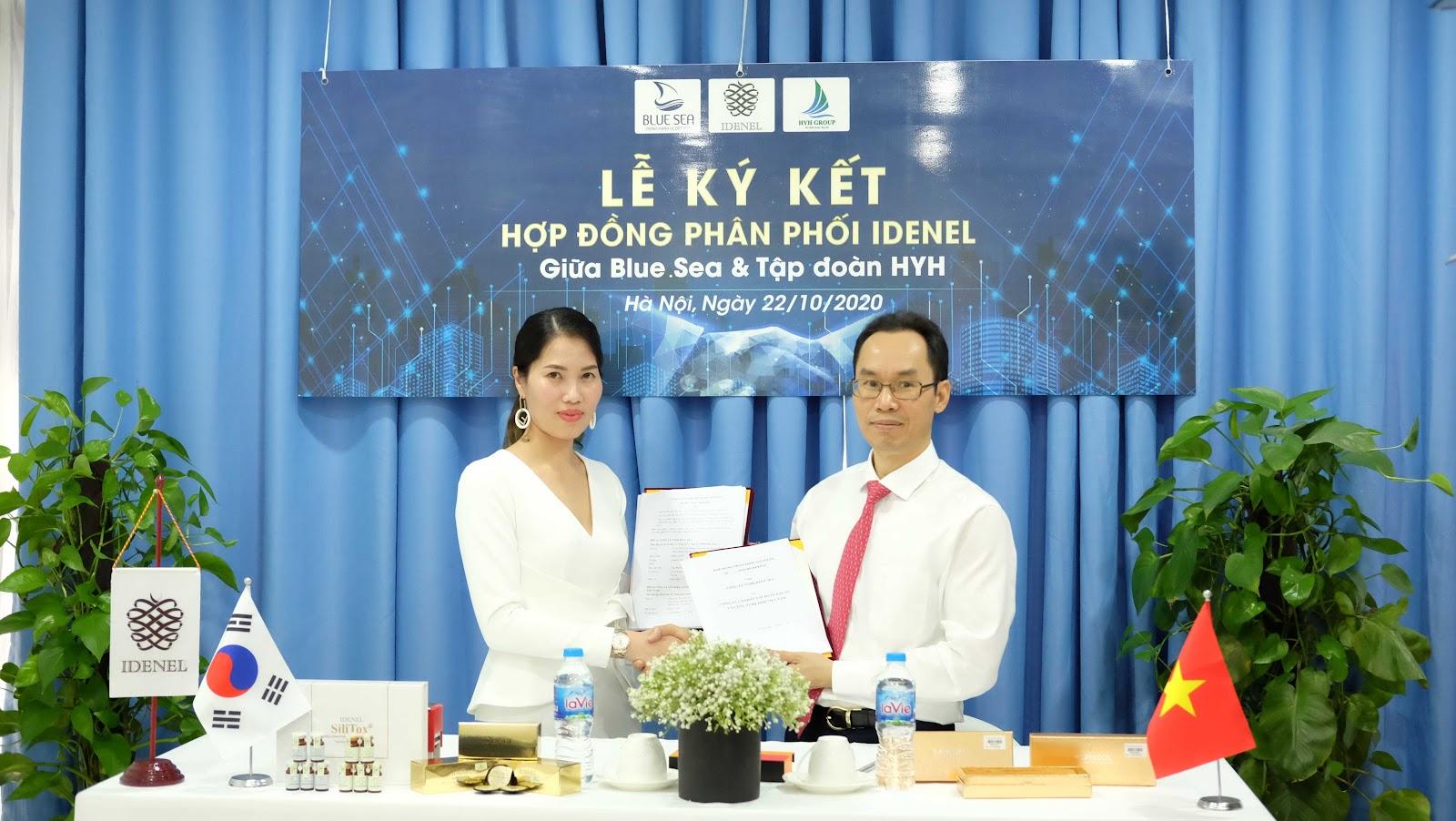 Lễ ký kết hợp đồng phân phối  IDENEL giữa BlueSea & Tập đoàn HYH.