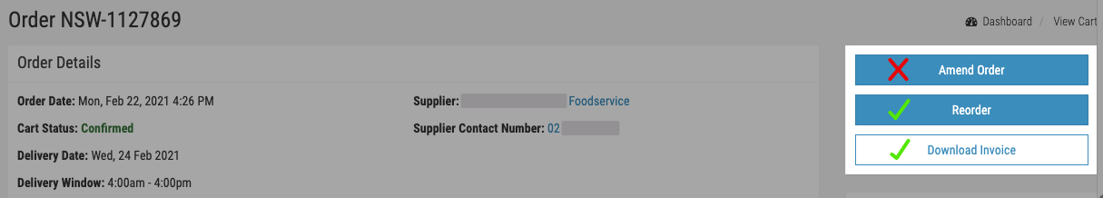 FoodByUs_past_order's_page_actions