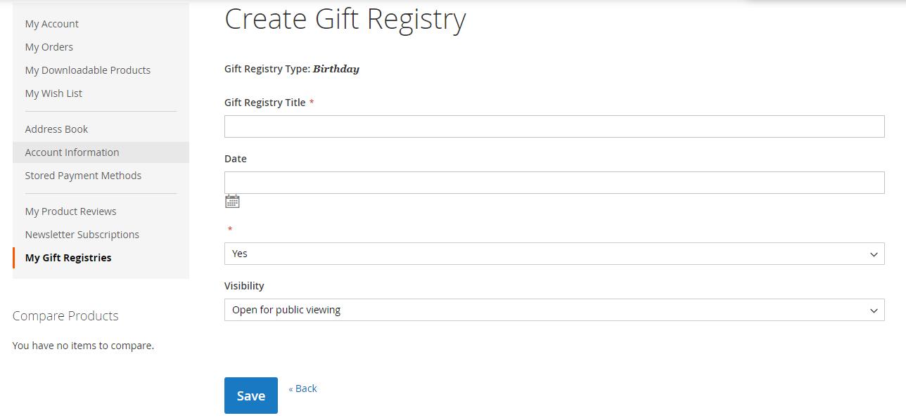 Magento Extension Development For Gift Registry Website: Custom Plugin