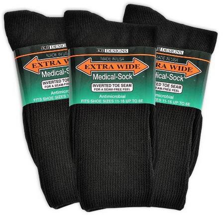 Extra-Wide Medical (Diabetic) Socks for Men