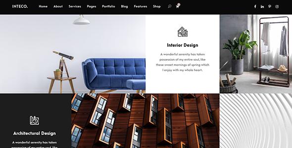 Interior design woocommerce themes Inteco