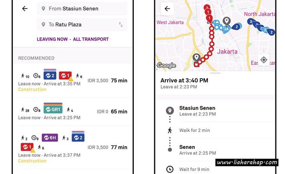 trafi public transportation apps jakarta