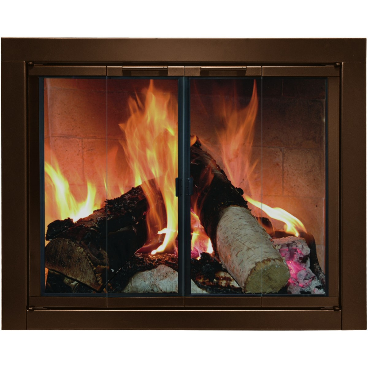Glass Doors of Fireplace - Open or Closed