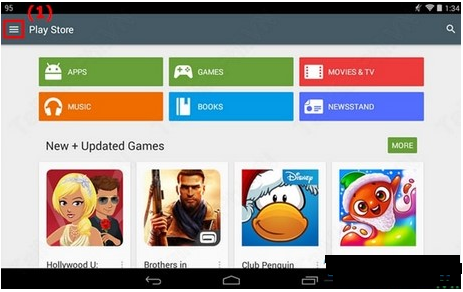 How to delete Play Store search history on Android tablet