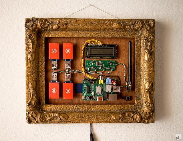 Peter Fröhlich's Bitcoin mining art
