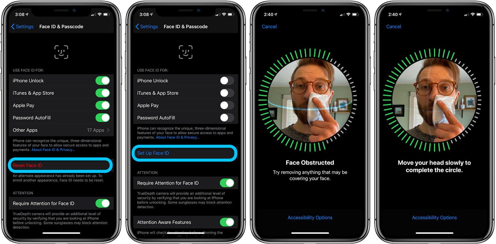 iPhone how to use Face ID with mask walkthrough 1