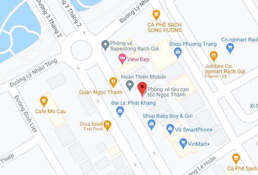 Địa điểm đón/trả khách tại Kiên Giang