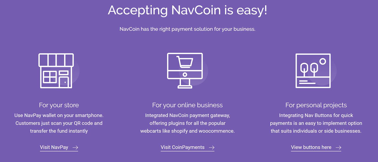 Navcoin Merchant Gateway