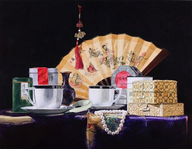 Still Life with Tea 20x26