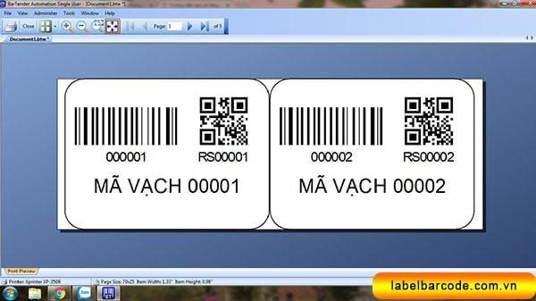 phần mềm in tem qr code dễ sử dụng nhất