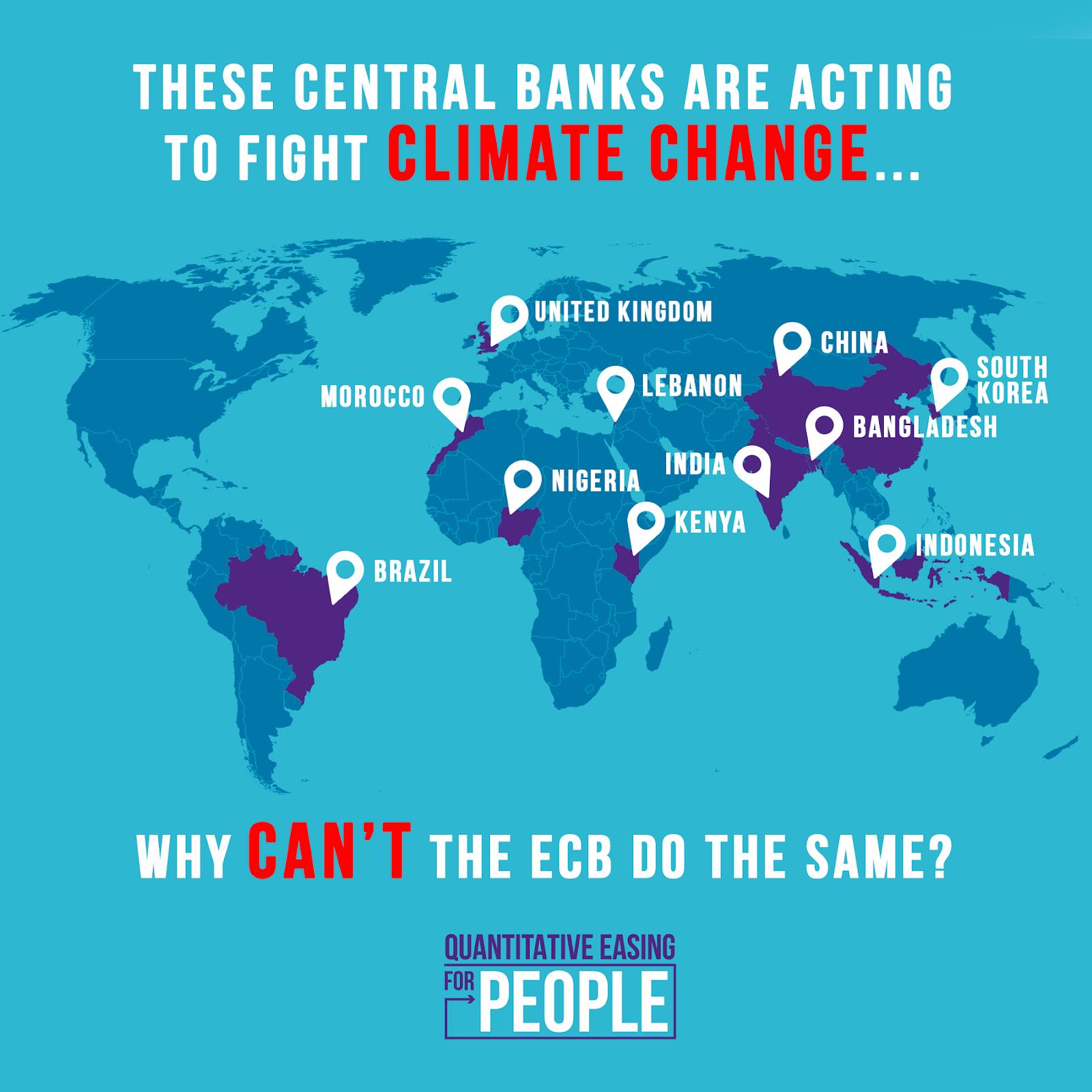 Seven central banks leading on climate change