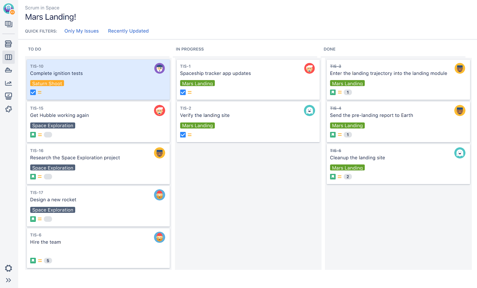 jira board project management for remote teams