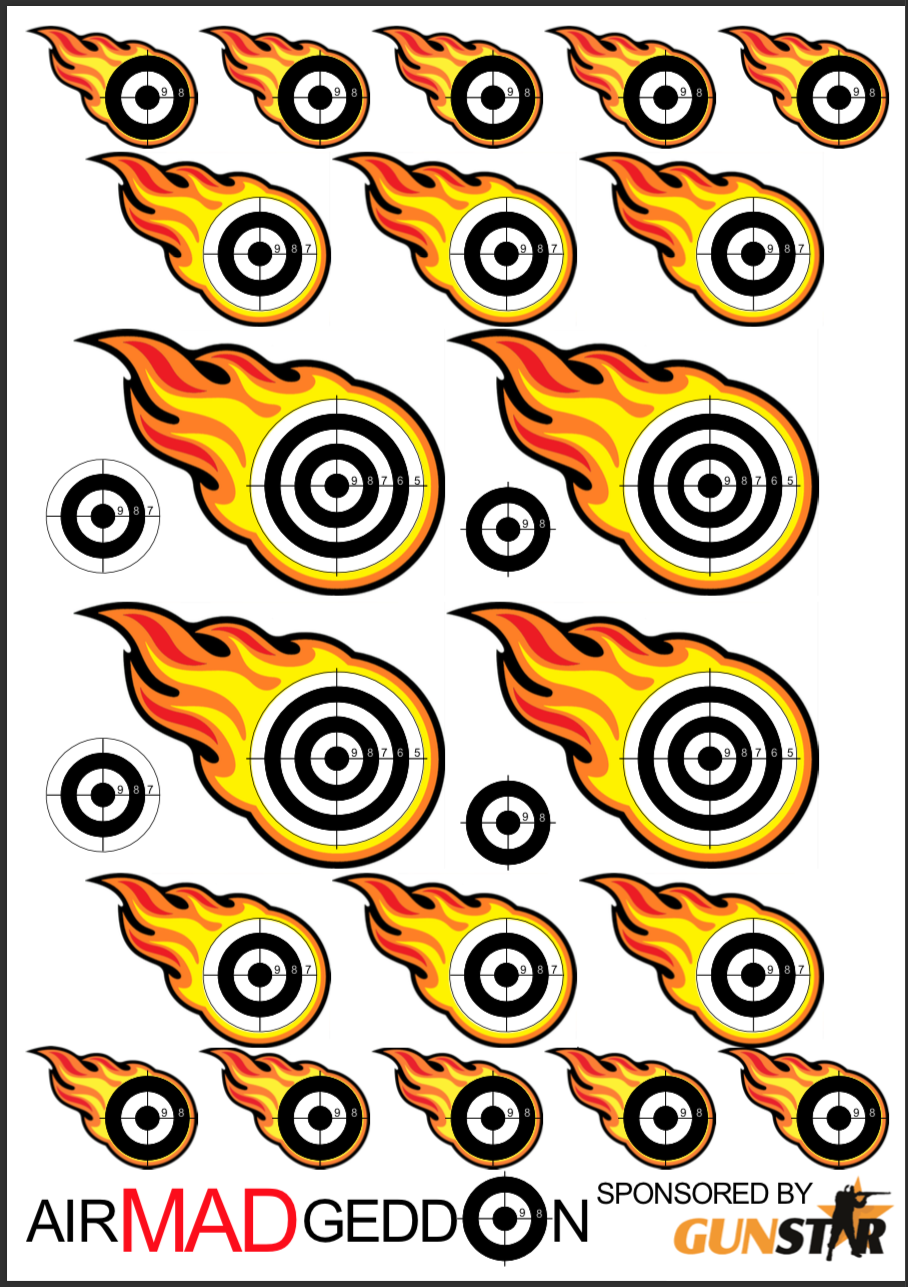 .22 shooting card for the competition